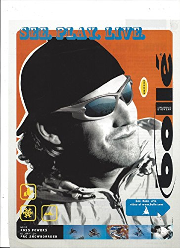 **PRINT AD** With Snowboarder Ross Powers For 2004 Bolle Performance Eyewear: - Sees Eyewear