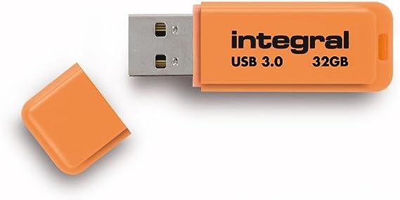 Integral Neon 32gb Usb 3 0 Flash Drive Orange Computers Accessories