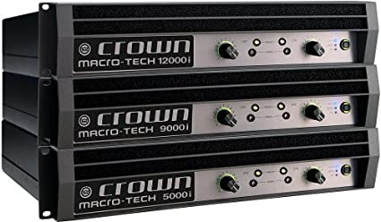 Amazon com: Crown MA9000I 2500-watt @ 2 ohm Power Amplifier