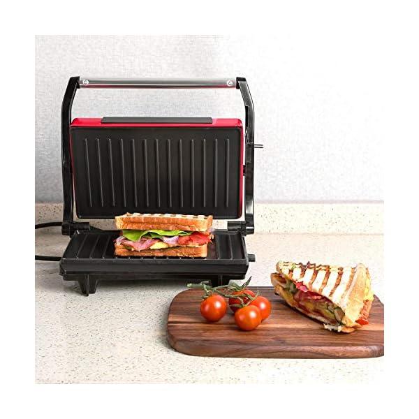 Aigostar Warme 30HHH - Panini Maker/Griglia, Pressa a sandwich, Griglia elettrica, 700 Watt, Fredda al tocco… 3