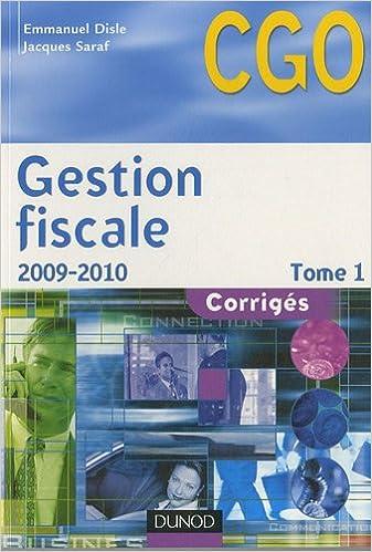 Livre Gestion fiscale Processus 3 : Corrigés Tome 1 epub, pdf