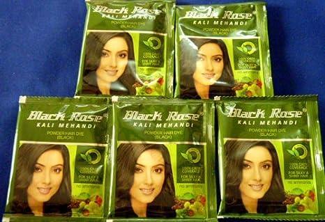 303694226 Buy 5 Sachet Black Rose Kali Mehandi Black Henna Herbal Hair Color 10gm X 5  = 50gms Online at Low Prices in India - Amazon.in