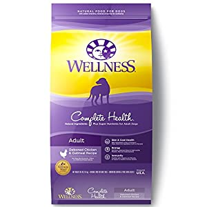 Wellness Complete Health Natural Dry Dog Food, Chicken & Oatmeal, 30-Pound Bag 37