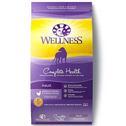 Wellness Complete Health Natural Dry Dog Food, Chicken & Oatmeal, 30-Pound ()