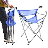 Frehsore Walking Stick Folding Cane Seat for Women/Men with Heavy Duty - Walker Chair Bench Camping Travel Stool 2 Handle with 4 Legs (for Standard Figure)