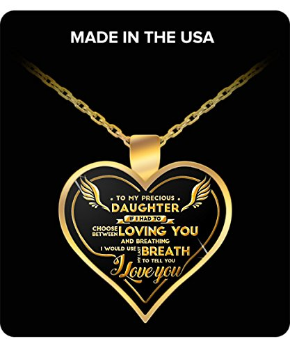 daughter gifts - To My Precious Daughter Gold Pendant Necklace - father daughter gifts, daughter Birthday gifts, dad gifts to a daughter, dad daughter