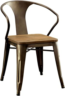 Cooper I Industrial Side Chair, Natural Elm Finish