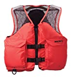 Kent Mesh Deluxe Commercial Life Vest - Persons over 90-Pounds. (Orange, X-Large, 44-48-Inch Chest)