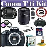 Canon EOS Rebel T4i Digital 18 MP CMOS SLR Camera with Tamron AF 28-80mm f/3.5-5.6 Aspherical Lens & Tamron AF 75-300mm f/4.0-5.6 Zoom Lens + Basic Starter Kit