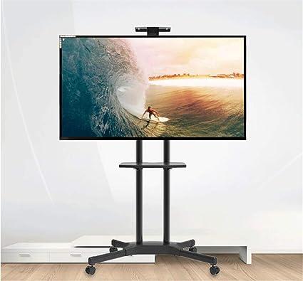 Exing Móvil TV Carro, Rodando Piso-Standing TV Rack Mobile TV Stand Video Conferencia Móvil Stand LCD TV Mobile Cart para 32-70 Pulgadas: Amazon.es: Hogar