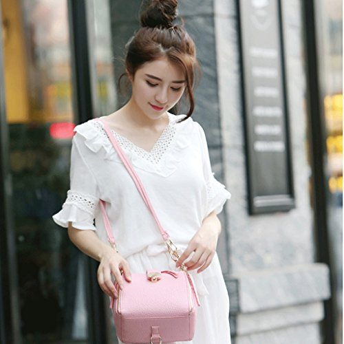 Bolsos de Mujeres Mensajero y Color Cadena del A Moda Handbag Manera nuevos Las Bolso Blue Japonesa Las de Hombro Correas la Bolso de de de la Simple de Bolsos Bolsos Pink Coreana tqxgHwZ