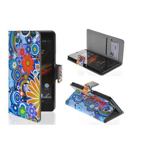 L36H Case,Sony L36H Case,Candywe Case Cover For Sony Xperia Z L36h,Beautiful Print Flip Wallet Leather Case Cover With Stand And Credit Card Slots Case Cover For Sony Xperia Z L36h 003