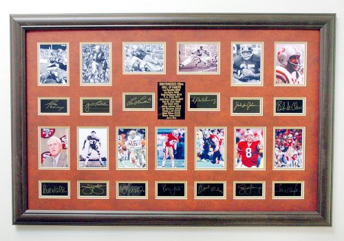 (San Francisco 49ers) Ultimate Photo Collage Featuring 13 Photo's W/facsimile Signatures Professionally Matted an Framed to a 24x36 Finished Size ()