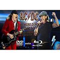 Living Room 27x40cm Silk Fabric Cloth Poster ACDC Live Montage Bedroom Wall Decorative Cloth Poster : Poster, 20x30cm