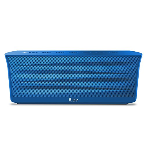 iLuv Rechargeable Splash-resistant Stereo Bluetooth Speaker with Jump-Start (Best Iluv Portable Party Speakers)