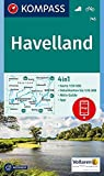 Havelland: 4in1 Wanderkarte 1:50000 mit Aktiv Guide und Detailkarten inklusive Karte zur offline Verwendung in der KOMPASS-App. Fahrradfahren.: Wandelkaart 1:50 000 (KOMPASS-Wanderkarten, Band 745)