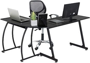 Yaheetech 3-Piece L-Shaped Corner Computer Office Desk