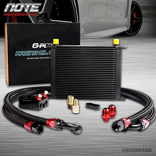 Wholesale 30 ROW 10 AN Universal Engine Transmission Oil Cooler +Filter Adapter Kit