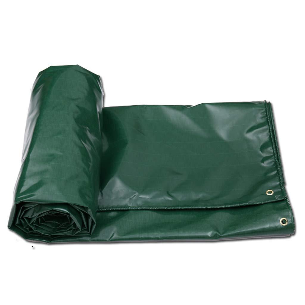 TLMYDD ターポリンレインコートクロスサンスクリーンアウトドアシェードクロスターポリンターポリン車防水ターポリンテント厚いキャンバス ターポリン (色 : Green, サイズ さいず : 4*3m) 4*3m Green B07KK57Y3S