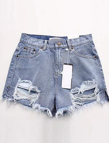 Pantalon Jeans Couleur Chic Street pour Unie White YFLTZ Femme TzqOAgg