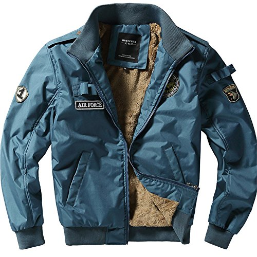 Outdoor 1 with Blue MA Air Jacket Men's Nylon Coat Bomber Military Winter Warm Flight Jacket Force Patches Classic Retro Thick YYZYY Autumn Quilted Waz8FvRx