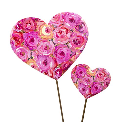 The Round Top Collection Gallery Rose Hearts, Asst. 2/Metal -