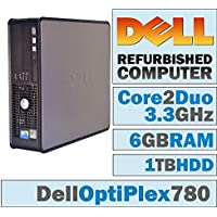 Dell OptiPlex/Core 2 Duo E8600 @ 3.3GHz/NEW 6GB Memory/1TB HDD/DVD-RW/WINDOWS 7 PRO 64 BIT-(Certified Reconditioned). (Certified Refurbished)