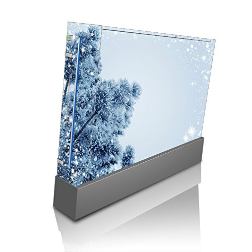 (Snow Snowy Winter Christmas Holiday Tree Wii Console Vinyl Decal Sticker Skin by Moonlight Printing)