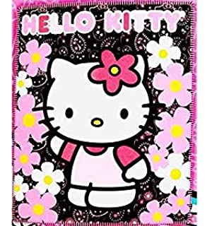 d25bd7b03 Blanket - Hello Kitty - Black Sunflwers New 50x60 Fleece Throw 70331 by Hello  Kitty
