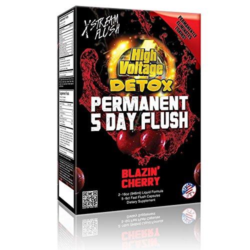 5 Day Detox Kit - High Voltage Permanent 5 Day Flush Blazin' Cherry