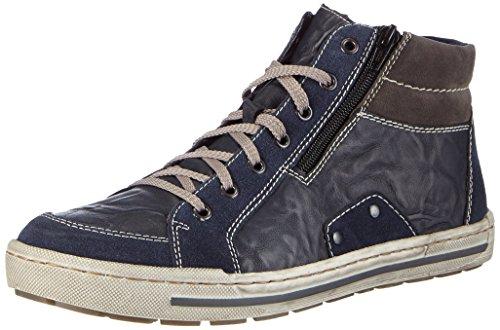 Rieker 38034 Hommes Haut Chaussures De Sport Bleu (marine / Rivi