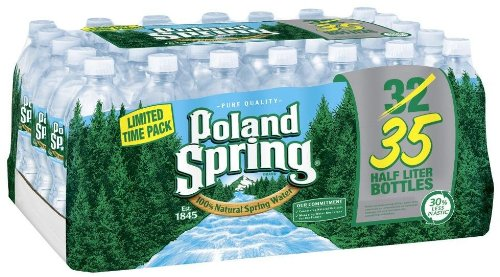 Poland Spring Bottled Water, 16.9 oz, 35 ct (Spring Water compare prices)