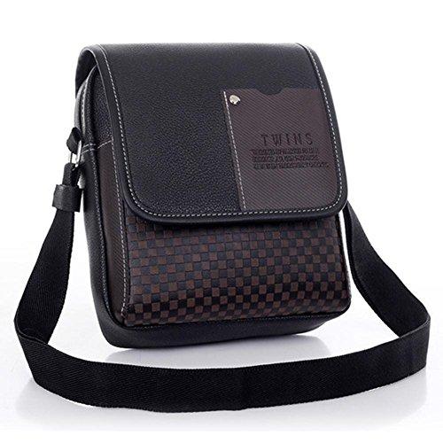 Asatr Men Casual Leather Shoulder Messenger Bag for Men Work Outdoor Crossbody Bag by Asatr (Image #1)