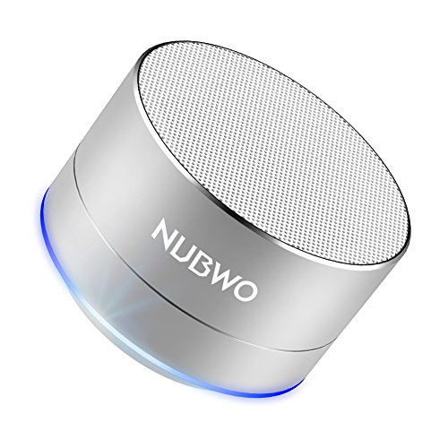 Bluetooth Speaker  Nubwo Mini Portable Outdoor Sport Car Aluminium Alloy Speakers   With Built In Mic  Aux Line  Tf Card  Enhanced Bass For Iphone Ipad Android Phone And More  Silver