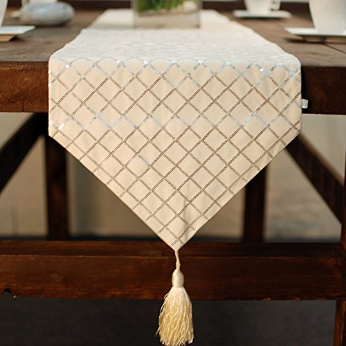 Christmas Tablescape Decor - Elegant European Style Festive Champagne Table Runner