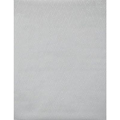 York Wallcoverings PT9049 New Chevron Paintable Wallpaper, White/Off Whites