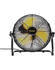 Stanley Hogesnelheidsventilator van metaal, 3 rotorbladen van staal, met porselein gecoat beschermingsrooster