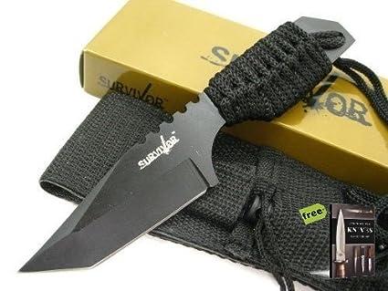 Amazon.com: SURVIVOR - Cuchillo de caza de supervivencia de ...
