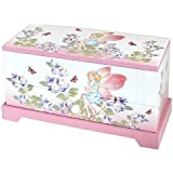 Lionite Mele Girls Pink Fairy Musical Jewellery Trinket Box With Rotating Ballerina