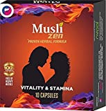 Life Zen Musli Zen Proven Herbal Formula for Vitality and Stemina Capsules - Pack of 30 Caps