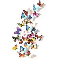 LiveGallery 24 PCS Removable 3D PVC Colorful Butterfly...