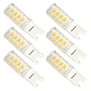 Kakanuo G9 LED BULB 3W Equivalent 40W Non-Dimmable Cool White 6000K 400Lumens AC100-265V Energy Saving 52x2835SMD (Pack of 6)