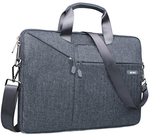 """13-13.3 Inch Laptop Sleeve Bag Briefcase, EKOOS Waterproof Notebook Carrying Case Shoulder Bag for 13""""Macbook Pro Touch Bar/Air/Pro 2017,12.9""""iPad Pro 2017, Microsoft Surface Pro 4/3 (13/13.3 Gray) (For Ipads Carry Bags)"""