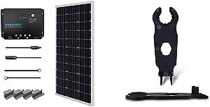Renogy 100 Watts 12 Volts Monocrystalline Solar Starter Kit & Solar Panel Connector Assembly Tool