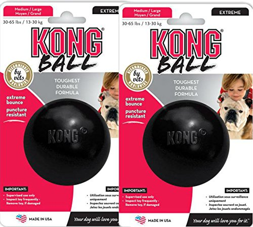 [해외]Kong EXTREME Rubber Ball Dog Fetch & Tough Chew Toy MediumLarge [2 PACK] / Kong EXTREME Rubber Ball Dog Fetch & Tough Chew Toy MediumLarge [2 PACK]