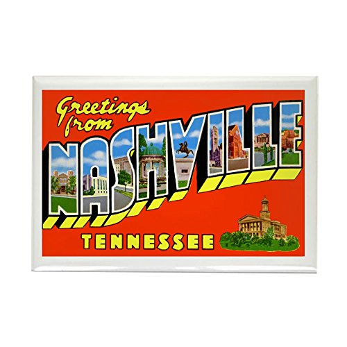 CafePress Nashville Tennessee Greetings Rectangle Magnet, 2