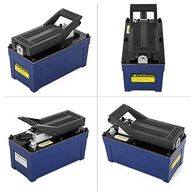 VEVOR Air Hydraulic Foot Pump 10000 psi Power Hydraulic Air Foot Pump Air Foot Single Acting Hydraulic Pump 103 In 3Cap