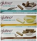 Glutino - Gluten Free Wafer Cookies Variety 6 Pack [Lemon, Vanilla and Milk Chocolate]