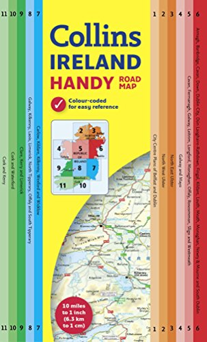 Handy Map of Ireland (Collins Handy Road Map)|-|0007541309