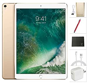 Apple iPad Pro 10.5 inch Wifi, 2017 model - 512GB Gold + USA Warehouses Accessories Bundle MPGK2LL/A
